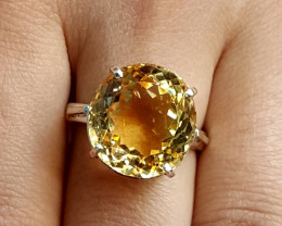 14 carat Natural Citrine Ring.