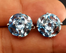 Gorgoues Natural Topaz ear studs.