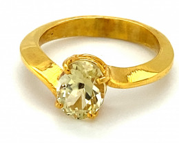 Canary Yellow Tourmaline 1.93ct Solid 18K Yellow Gold Solitaire Ring Malawi