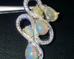 Natural Good fire Opal Pendent.