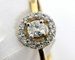 10kt. Gold - Diamond Halo Ring 0.22 TCW