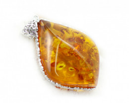 48Cts Baltic Amber Sale, Silver Pendant - AM 1955