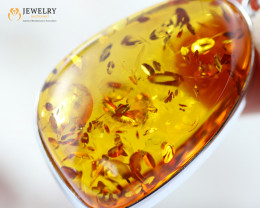 42Cts Baltic Amber Sale, Silver Pendant - AM 1957