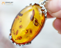 28Cts Baltic Amber Sale, Silver Pendant - AM 1958