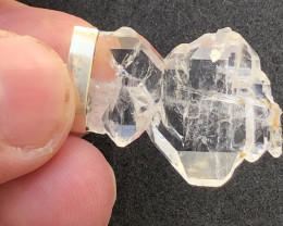 Natural Faden Quartz Damage Free Crystal 20.15 Carats Hand Made 925 Silver