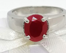 Ruby Solitaire Ring 2.25 TCW