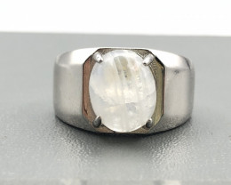 26.40 Crt Natural Moonstone 925 Silver Ring