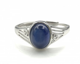 10.97 Crt Natural Kyanite  925 Silver Ring