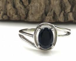 10.79 Crt Natural Sapphire 925 Silver Ring