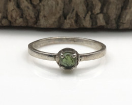 7.23 Crt Natural Tourmaline 925 Silver Ring