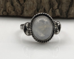 13.63 Crt Natural Moonstone Handmade 925 Silver  Ring