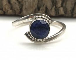 13.60 Crt Natural Lapis Lazuli Handmade 925 Silver  Ring