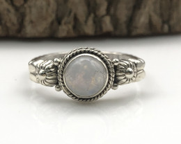 11.82 Crt Natural Moonstone Handmade 925 Silver  Ring