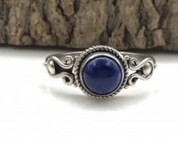 11.94 Crt Natural Lapis Lazuli  Handmade 925 Silver  Ring