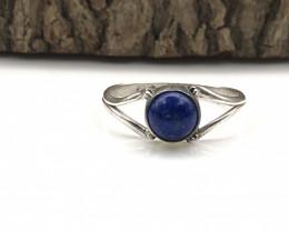 6.57 Crt Natural Lapis Lazuli Handmade 925 Silver  Ring