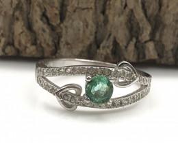 110.9 Crt Natural Emerald 925 Silver  Ring