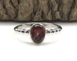 9.26 Crt Natural Garnet 925 Silver  Ring