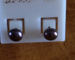 RC Cute 4mm Black Pearl Earring GT 77-5