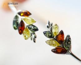 3Cts Baltic Amber Sale, Silver Bracelet - AM 2036
