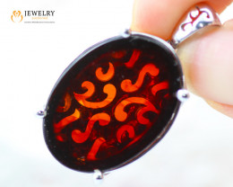 10Cts Baltic Amber Sale, Silver Pendant - AM 2051