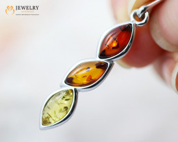 3Cts Baltic Amber Sale, Silver Pendant - AM 2059