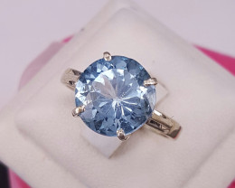 Natural Topaz Ring in Silver 925