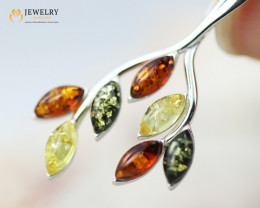 3Cts Baltic Amber Sale, Silver Pendant - AM 2073