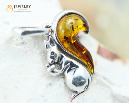 2Cts Baltic Amber Sale, Silver Pendant - AM 2077