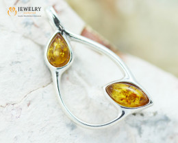2Cts Baltic Amber Sale, Silver Pendant - AM 2079