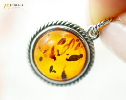 2Cts Baltic Amber Sale, Silver Pendant - AM 2083