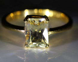 Mali Garnet 2.60ct Solid 22K Yellow Gold Solitaire Ring