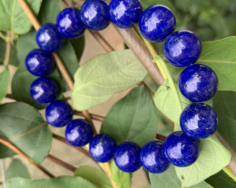 Deep blue lapis lazuli hand made bracelet