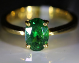 Tsavorite Garnet 1.81ct Solid 22K Yellow Gold Solitaire Ring