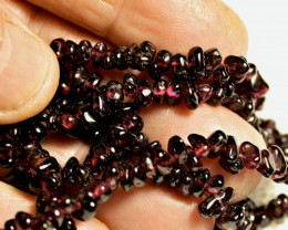 278.5 Tcw. 32 Inch Purple African Garnet Necklace - Gorgeous