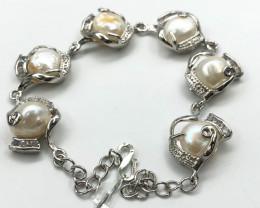 104 Crt Natural Fresh Water Pearls Bracelet