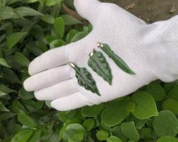deep green hand craft niphrite jade pendants