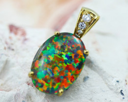 Stunning Man made Fire Opal Pendant GTJA 1002