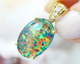 Stunning Man made Fire Opal Pendant GTJA 1003