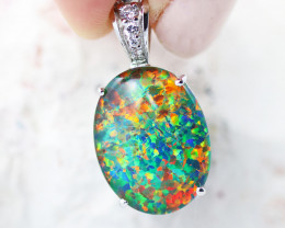 Stunning Man made Fire Opal  Pendant  GTJA 1031