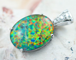 Stunning Man made Fire Opal  Pendant  GTJA 1035