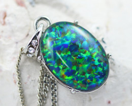 Stunning Man made Fire Opal  Pendant  GTJA 1041