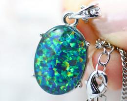 Stunning Man made Fire Opal  Pendant  GTJA 1042