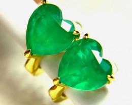 18.68 Tcw. Doublet Emerald Earrings - Gorgeous