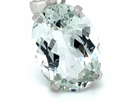 Herkimer Diamond Quartz 9.20ct Platinum Finish Solid 925 Sterling  Silver P