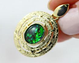 Stunning Man made Fire Opal  Pendant  GTJA 1057