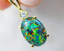 Stunning Man made Fire Opal  Pendant  GTJA 1059