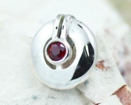 Simulant Ruby In Steling Silver pendant  GTJA 1082