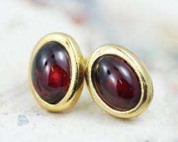 Cabochon Garnet   Earrings GTJA 1125