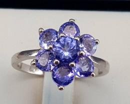 Amazing Natural Tanzanite Ring.