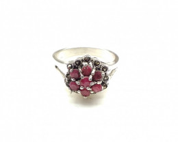 RUBY 925% SILVER RING A12
